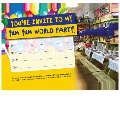 Yum Yum World Kids Party Invite Download